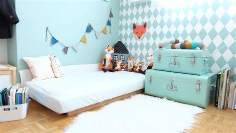 chambre montessori lit montessori comment faire le sommier deco chambre d