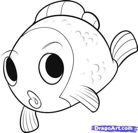 draw  easy fish step  step fish animals