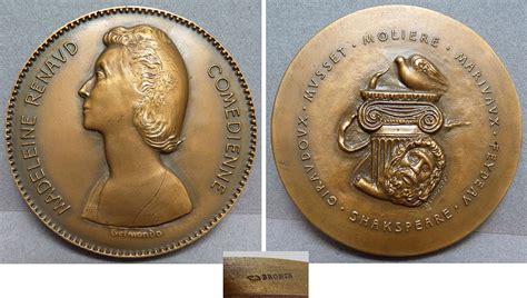 4 rue madeleine renaud limoges medaille en bronze sign 233 e belmondo 233 dienne madeleine