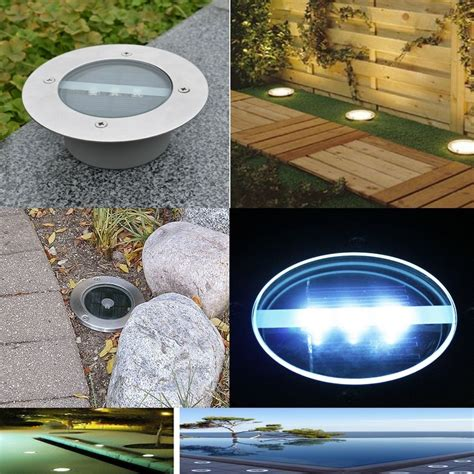 1 5 10pc solar led in ground l outdoor stainless