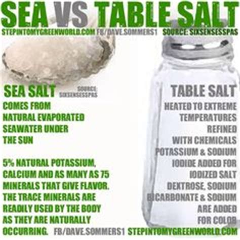what is the difference between kosher salt and table salt 1000 images about the cure for anything is salt water