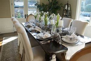 10 ways to bring natural organic elements into your With dining room table setting ideas