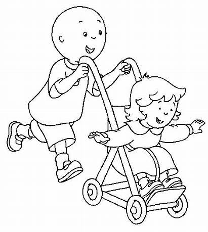 Coloring Caillou Pages Push Play