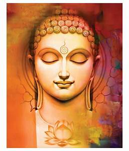3D Bazaar Buddha Art Wall Decoration Cavas Painting: Buy