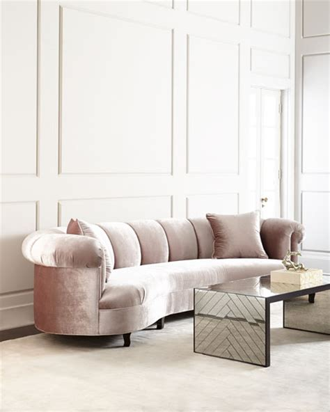 Camille Tufted Settee by Haute House Channel Tufted Sofa 123 Quot