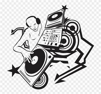 Dj Drawing Drawings Cool Clipart Disc Jockey