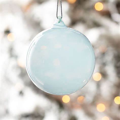 milk glass globes small aqua new christmas ornaments