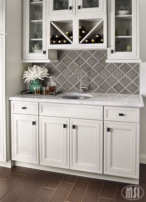 grey cabinets white backsplash 35 beautiful kitchen backsplash ideas hative 137 | 15 kitchen backsplash ideas