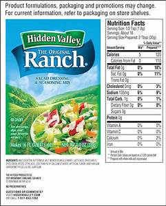 ranch dressing packet nutrition