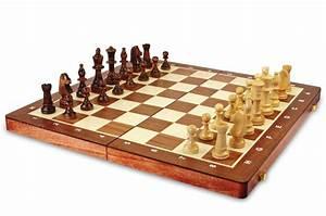 Jeu D échec Original : jeu d 39 checs grand format en bois teint acajoucm ~ Melissatoandfro.com Idées de Décoration