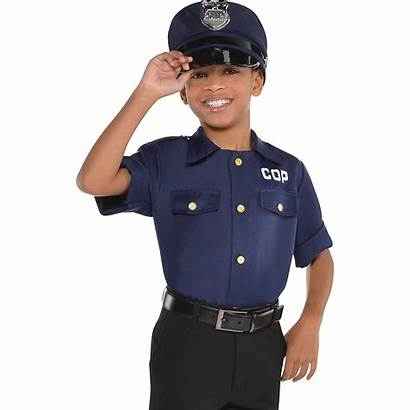 Cop Shirt Child Police Costume Boys Party