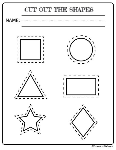 free printable shapes worksheets for toddlers and preschoolers 564 | cutting shapes
