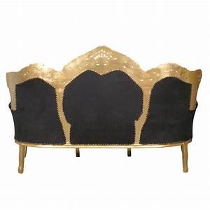 Canapé Baroque Pas Cher : canap baroque noir et or meuble baroque ~ Teatrodelosmanantiales.com Idées de Décoration