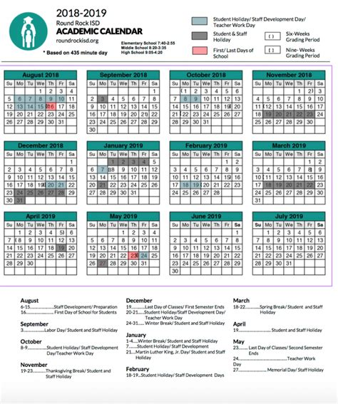 rrisd academic calendars