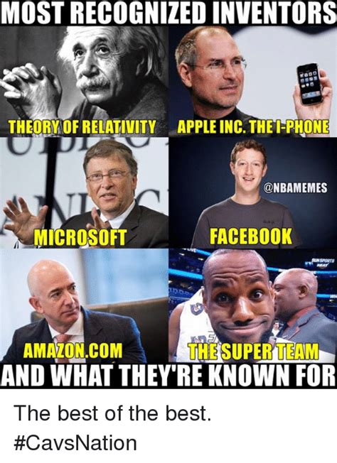 Theory Of Memes - most recognizedinventors theory of relativity appleinc thei phone facebook microsoft amazoncom