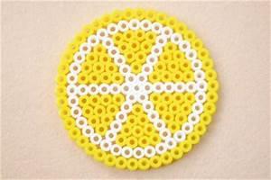 Perler Bead Lemon Coasters Fun Family Crafts