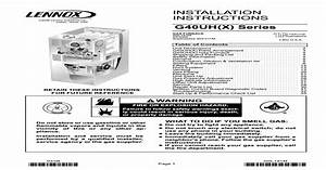Installation Instructions - Lennox