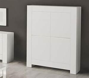 Meuble Haut Blanc Laqué : meuble buffet haut blanc laqu italien ~ Teatrodelosmanantiales.com Idées de Décoration