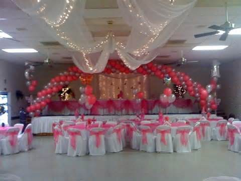 quinceanera hall decorations photos