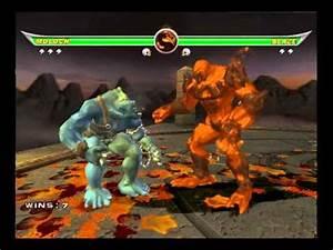 Mortal kombat Armageddon - Moloch VS Motaro and Blaze ...