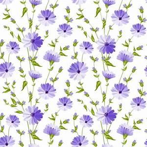 Purple flowers pattern background Vector   Premium Download