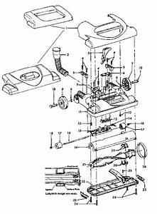 Hoover U5347 Windtunnel Upright Vacuum Cleaner Parts List  U0026 Schematic