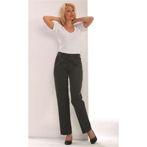 veste cuisine femme manche courte pantalon de cuisine dame rayures noir et blanc