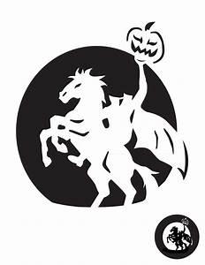 Headless, Horseman, Pumpkin, Stencil, -, Pumpkin, Pattern, -, Pumpkin, Template
