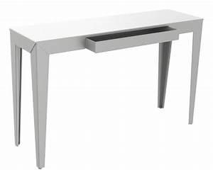 Console Avec Tiroir : console zef avec tiroir 120 x 35 cm brut vernis brillant mati re grise ~ Teatrodelosmanantiales.com Idées de Décoration
