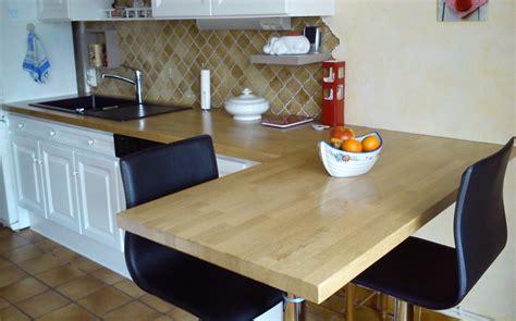 table plan de travail cuisine remettre sa cuisine au goût du jour le du bois