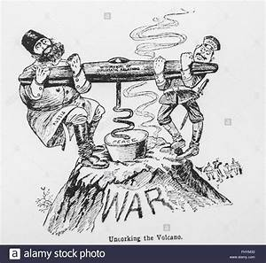 Caricature of Russo-Japanese War Stock Photo: 97109463 - Alamy