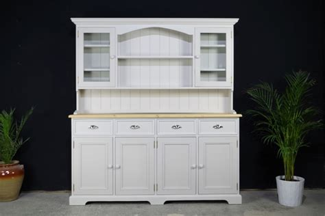 Large Country style Dresser   4 Door Base   Spell Grey