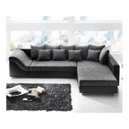 canapé d angle gris et noir canapé d 39 angle convertible river noir gris achat vente canapé sofa divan cdiscount