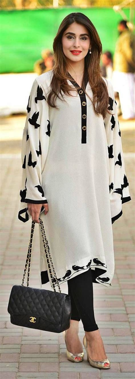 Pakistani Fashion Casual Dresses Collection in White Color | NationTrendz.Com
