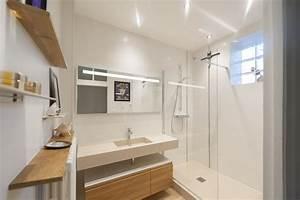 Salle De Bain En L : salle de bain avec douche l italienne ~ Melissatoandfro.com Idées de Décoration