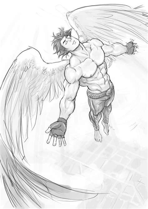 B-Angel flying by Felsus on DeviantArt | Angel drawing