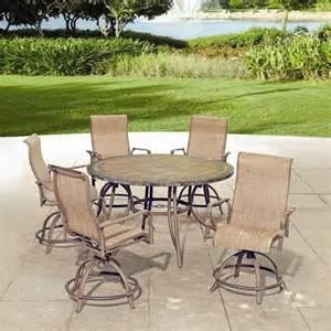 backyard creations 6 avondale balcony dining collection at menards patio furniture