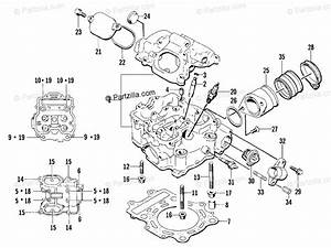 Arctic Cat Atv 2002 Oem Parts Diagram For Cylinder Head