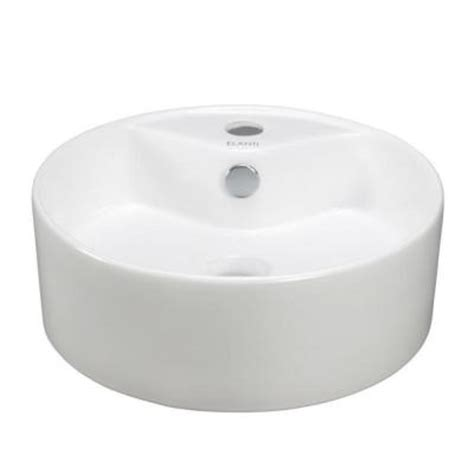 Bathroom Bowl Sinks Home Depot by Elanti Vessel Above Counter Bowl Bathroom Sink In