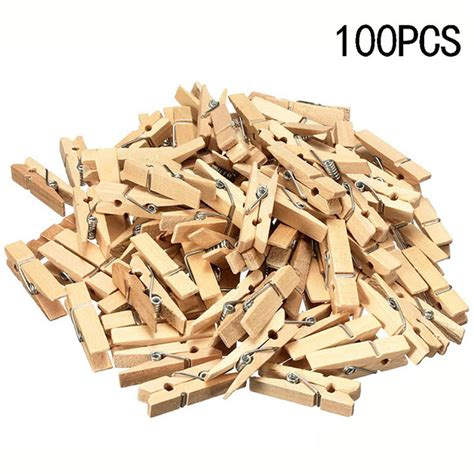 100x pegs wooden natural of small favour wedding
