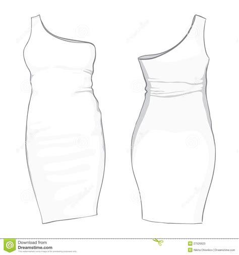 dress template template dress stock vector illustration of details 27526923
