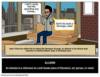 Allusion Examples Definition Literary Terms Define Storyboard