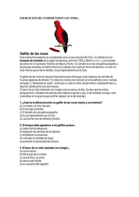 Calaméo  Ejercicios De Comprension Lectora