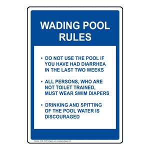 wading pool rules sign nhe  oregon swimming pool spa