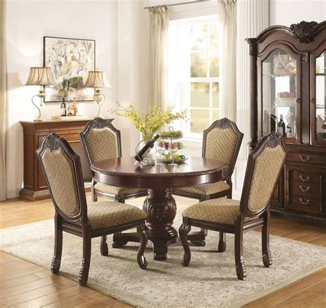 acme furniture chateau de ville espresso pc  dining