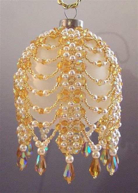 free seed bead ornament patterns christmas ornaments