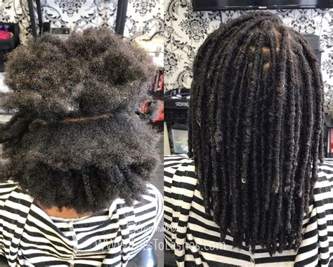 permanent loc extensions locs hairstyles thick hair