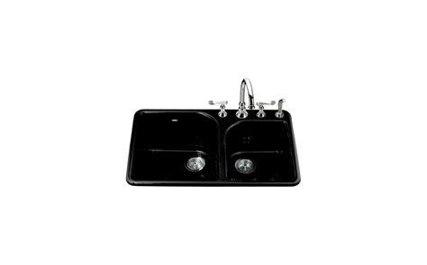 kohler executive chef sink rack black faucet k 5932 4 7 in black by kohler