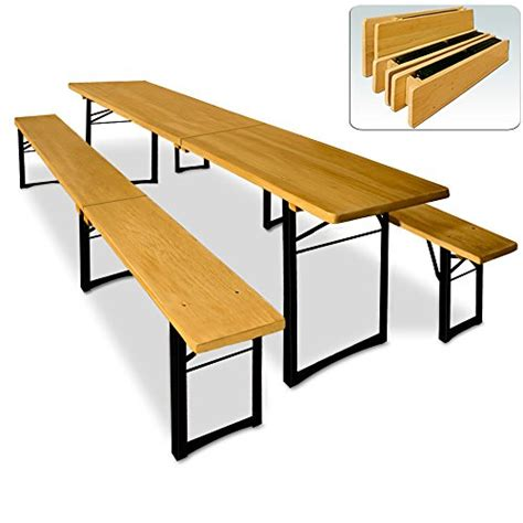 wooden trestle table and bench set folding outdoor dining