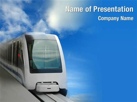 high speed train powerpoint templates high speed train